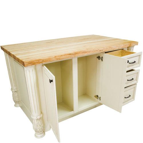 Hardware Resources Shop Isl05 Awh Kitchen Island Antique White Jeffrey Alexander Kitchen