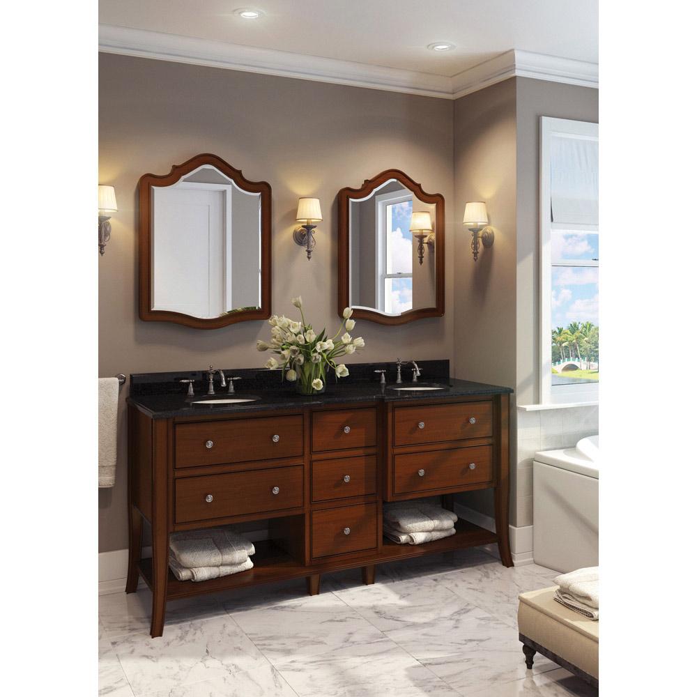 Hardware resources shop van081d 72 t vanity chocolate jeffrey alexander large bathroom for Home hardware bathroom vanities