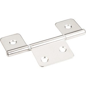 "Hardware Resources - 3-1/2"" Three Leaf Non-mortise Hinge without Screws in Bright Nickel"