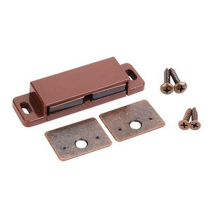 Hardware Resources - Builder Hardware - 15lb Double Magnetic Catch Retail Pack. in Brown