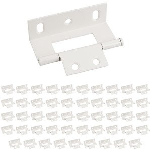 "Hardware Resources - (50 PACK) 3"" Non Mortise Wrap Around Hinge in Almond"