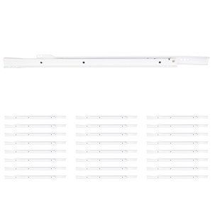 "Hardware Resources - (25 PACK) 20"" (500mm) 1.3mm Premium Cream White Euro slide Pair in White"