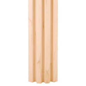 "Hardware Resources - 2-3/4"" x 3/4"" 3 Flute Corner Moulding in Cherry Wood (8 Linear Feet)"