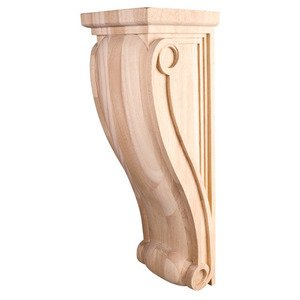 Hardware Resources - Large Neo Gothic Traditional Corbel in Alder Wood