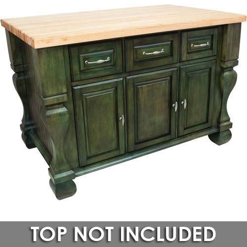 Hardware Resources Shop Isl01 Aqu Kitchen Island Aqua Green