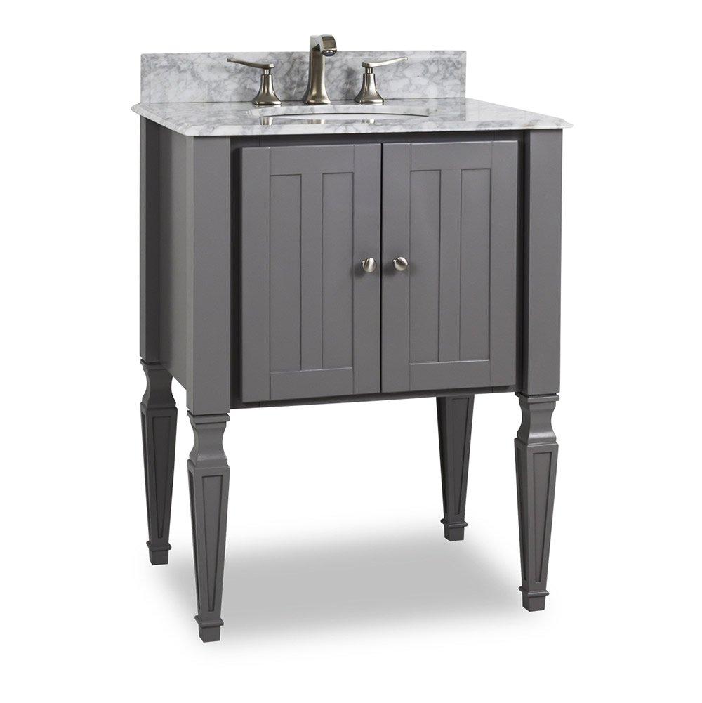 Hardware Resources Shop Van089 T Mw Vanity Grey Elements Small Bathroom Vanities By