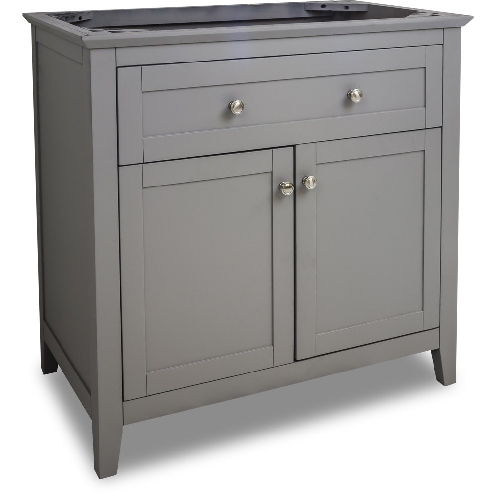 Hardware Resources Shop Van102 36 Vanity Grey Jeffrey Alexander Large Bathroom Vanities