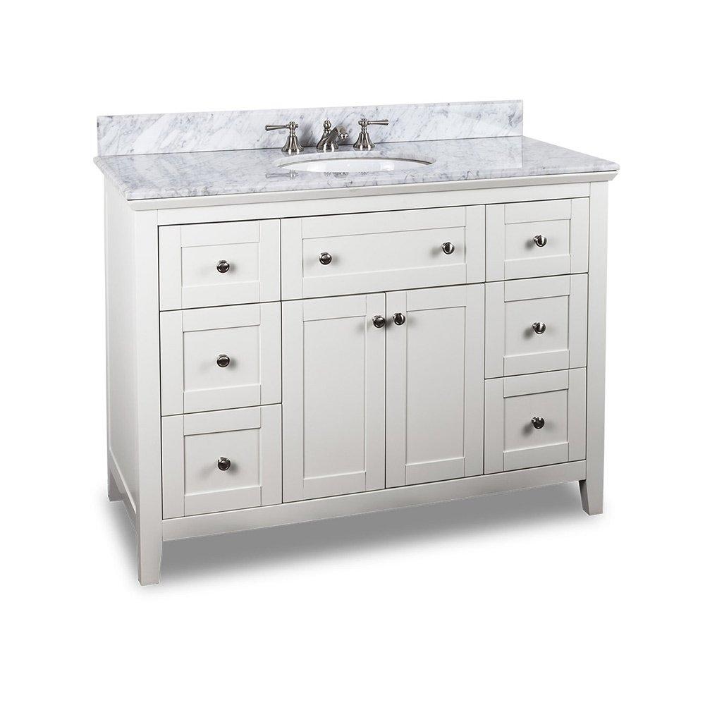 Hardware Resources Shop Van105 48 T Vanity White Jeffrey Alexander Large Bathroom