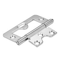 "Hardware Resources - Shutter Hardware - 3"" Swaged Loose Pin Non-mortise Hinge in Polished Brass"
