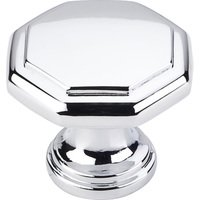 "Hardware Resources - Elements Drake Cabinet Hardware - 1-3/16"" Geometric Cabinet Knob in Polished Chrome"