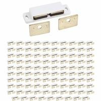 Hardware Resources - Shutter Hardware - (100 PACK) Double Magnetic Catch 15 lb Pull Each Side in White