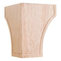 Hardware Resources - Wooden Legs and Feet - Triangular Mission Bunn Foot in Alder Wood