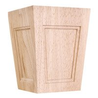 Hardware Resources - Wooden Legs and Feet - Mission Bunn Foot in Rubberwood Wood