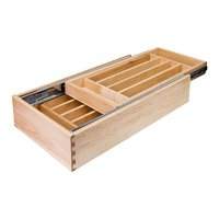 "Hardware Resources - Drawer Organizers - Nested Cutlery Drawer 11-1/2"" W x 21"" D x 4-3/16"" H in White Birch"