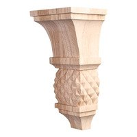 "Hardware Resources - Corbels and Bar Brackets - 10"" Diamond Colonial Corbel in Rubberwood Wood"