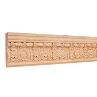 "Hardware Resources - Mouldings - 3 3/4"" Acanthus Traditional Hand Carved Mouldings in Hard Maple Wood (8 Linear Feet)"