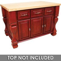 "Hardware Resources - Jeffrey Alexander  Kitchen Islands - 53 1/2"" x 33 3/4"" Kitchen Island in Brilliant Red"