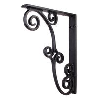 Hardware Resources - Decorative Metal Accessories - Metal (Iron) Rustic Bar Bracket in Black