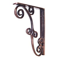 Hardware Resources - Decorative Metal Accessories - Metal (Iron) Rustic Bar Bracket in Brushed Oil Rubbed Bronze