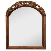 "Hardware Resources - Jeffrey Alexander  Bathroom Vanity Mirrors - 26"" x 32"" Mirror in Walnut with 3 1/2"" Shelf and Beveled Glass"