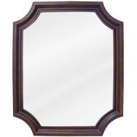 "Hardware Resources - Elements Bathroom Vanity Mirrors - 22"" x 27"" Mirror in Toffee with Beveled Glass"