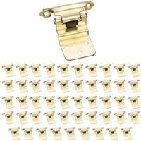 Hardware Resources - Builder Hardware - (25 PACK) 3/8 Inset hinge 1 Pr. in Polished Brass (PAIR)