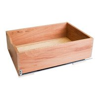 "Hardware Resources - Base Cabinet Organizers - Preassembled 21"" Rollout Shelf System in Sycamore Wood"