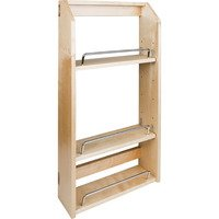 "Hardware Resources - Wall Cabinet Organizers - Adjustable Spice Rack for 15"" Wall Cabinet"