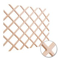 "Hardware Resources - Wine Accessories - Wine Lattice Rack with Bevel 36"" x 48"" in Oak Wood"