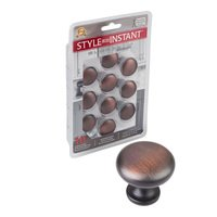"Elements Hardware - Madison Cabinet Hardware - 10 Pack of 1 3/16"" Diameter Knob in Brushed Oil Rubbed Bronze"