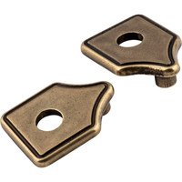 "Jeffrey Alexander - Escutcheons Cabinet Hardware - 3"" to 3 3/4"" Transitional Adaptor Backplates in Lightly Distressed Antique Brass"