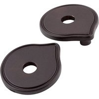 "Jeffrey Alexander - Escutcheons Cabinet Hardware - 3"" to 3 3/4"" Transitional Adaptor Backplates in Brushed Oil Rubbed Bronze"