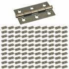 "Hardware Resources - (100 PACK) 2-1/2"" x 1-1/2"" Swaged Butt Hinge in Brushed Antique Brass"